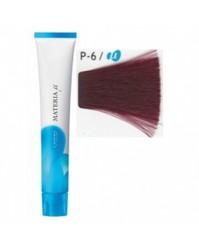 Lebel Materia µ Лайфер - Краска для волос восстанавливающая P6 - темный блондин розовый, 80 гр