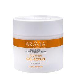 Aravia Professional - Гель-скраб против вросших волос Papain Gel-Scrub, 300 мл