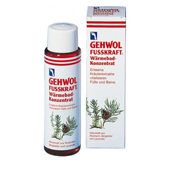 Gehwol Fusskraft Warming Bath Concentrate - Согревающая ванна, 150 мл