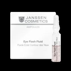 Janssen 1900M Ampoules Eye Flash Fluid - Увлажняющая и восстанавливающая сыворотка в ампулах для контура глаз, 3 x 2 мл