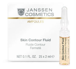 Janssen 1917P Skin Contour Fluid - Anti-age лифтинг-сыворотка в ампулах с пептидами, стимулирующими синтез эластина, 25 х 2 мл