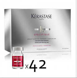 Kerastase Specifique Cure Intensive Anti-Chute a Aminexil Force R - Массаж-уход от выпадения с Аминексилом, 42 ампул*6 мл