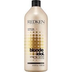Redken Blonde Idol - Бессульфатный шампунь, восстанавливающий баланс pH, специально для волос блонд, 1000 мл