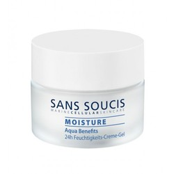 Sans Soucis Aqua Benefits Moisturizing 24-h Creme-Gel - Крем-гель увлажняющий 24-часового ухода «Aqua Benefits», 50 мл.