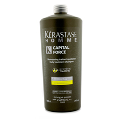 Kerastase Homme Capital Force Daily Treatment Shampoo Vita-Energising Effect - Энергетический шампунь, 1000 мл