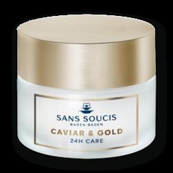 Sans Soucis Caviar & Gold Anti Age Deluxe 24H CARE - Крем - люкс антивозрастной «Икра и Золото» 24ч, 50 мл