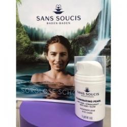 Sans Soucis Illuminating pearl ANTI AGE + GLOW EYE CARE - Крем антивозрастной для глаз с экстрактом японского жемчуга, 50 мл