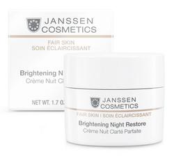 Janssen 3320 Fair Skin Brightening Night Restore - Осветляющий ночной крем, 50 мл