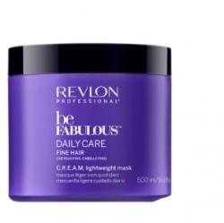 Revlon Be Fabulous Daily Care Fine Hair Lightweight Mask - Очищающая маска для тонких волос, 500 мл