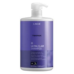 Lakme Teknia Ultra Clair Shampoo - Шампунь тонирующий для светлых оттенков волос, 1000 мл
