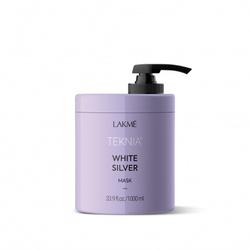 Lakme Teknia White Silver Mask - Тонирующая маска для нейтрализации желтого оттенка волос, 1000 мл