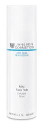 Janssen 508P Dry Skin Mild Face Rub - Мягкий скраб с гранулами жожоба, 200 мл