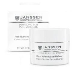 Janssen 0010 Demanding Skin Rich Nutrient Skin Refiner - Обогащенный дневной питательный крем (SPF-4), 50 мл