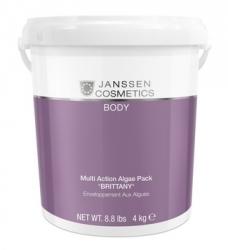 """Janssen 7688P Multi Action Algae Pack """"Brittany"""" - Микронизированные водоросли """"БРИТТАНИ"""" для ревитализирующих и антицеллюлитных обертываний, 4 кг"""