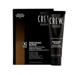 American Crew Precision Blend - Краска для седых волос пепельный оттенок 5/6, 3*40 мл