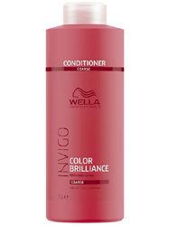 Wella Invigo Color Brilliance - Бальзам-уход для защиты цвета окрашенных жестких волос, 1000 мл