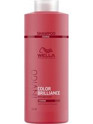 Wella Invigo Color Brilliance - Шампунь для защиты цвета окрашенных жестких волос, 1000 мл