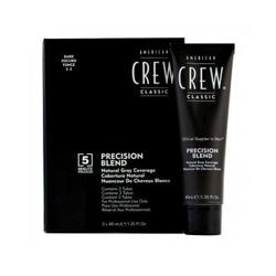 American Crew Precision Blend - Краска для седых волос темный оттенок 2/3, 3*40 мл