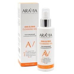 Aravia Laboratories - АНА & ВНА Cleansing Gel - Гель очищающий с АНА & ВНА кислотами, 150 мл