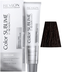 Revlon Professional Revlonissimo COLOR SUBLIME Natural 3  - Перманентная краска без аммиака, темно-коричневый, 75 мл