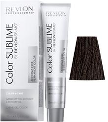 Revlon Professional Revlonissimo COLOR SUBLIME Natural 4  - Перманентная краска без аммиака, коричневый, 75 мл