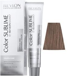 Revlon Professional Revlonissimo COLOR SUBLIME Iridescent 5.12 - Перманентная краска без аммиака, светло-коричневый пепельно-перламутровый, 75 мл