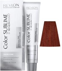 Revlon Professional Revlonissimo COLOR SUBLIME Copper 5.4 - Перманентная краска без аммиака, светло-коричневый медный, 75 мл