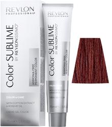 Revlon Professional Revlonissimo COLOR SUBLIME Red 5.66  - Перманентная краска без аммиака, светло-коричневый насыщенный красный, 75 мл