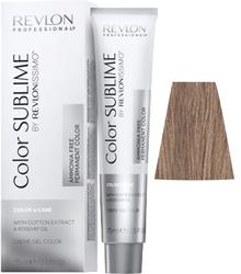 Revlon Professional Revlonissimo COLOR SUBLIME Iridescent 6.12   - Перманентная краска без аммиака, темный блондин пепельно-перламутровый, 75 мл
