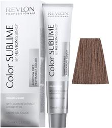 Revlon Professional Revlonissimo COLOR SUBLIME Chestnut 6.24  - Перманентная краска без аммиака, темный блондин перламутрово-медный, 75 мл