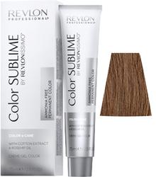 Revlon Professional Revlonissimo COLOR SUBLIME Tobacco 6.34  - Перманентная краска без аммиака, темный блондин золотисто-медный, 75 мл