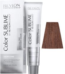 Revlon Professional Revlonissimo COLOR SUBLIME 6.4 - Перманентная краска без аммиака, темный блондин медный, 75 мл