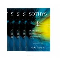 Sothys Chrono-destressing sleeping mask - Восстанавливающая anti-age ночная маска, 8 х 4 мл.