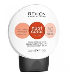 Revlon Professional Nutri Color Filters - Прямой краситель без аммиака 740 Медный, 240 мл