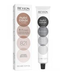 Revlon Professional Nutri Color Filters - Прямой краситель без аммиака 821 Серебристо-бежевый, 100 мл