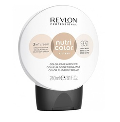 Revlon Professional Nutri Color Filters - Прямой краситель без аммиака 931 Светло-бежевый, 240 мл