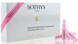 Sothys Oxygenating Essential Ampoules - Ампульный концентрат с кислородонасыщающим и ревитализирующим действием, 7 х 1,5 мл.