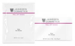 Janssen 8355P Aloe De-Stress - Альгинатная anti-age успокаивающая ультраувлажняющая маска с экстрактами алоэ вера и спирулиной, 10 x 30 г