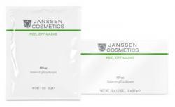 Janssen 8366P Olive-Hydration - Альгинатная anti-age ультраувлажняющая маска с маслом оливы и экстрактом оливковых листьев, 10 x 30 г