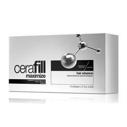 Redken Cerafill Maximize Hair Advance - Ампулы двойного действия против истончения волос с Аминексилом и Omega 6, 10*6 мл