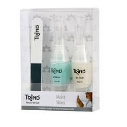 Trind «Moist & Shiny» Set - Набор по уходу за ногтями, 2*9 мл+1 шт