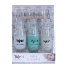 Trind «Perfect Cuticle & Nail» Set - Набор по уходу за ногтями «Идеальные ногти», 3*9 мл+2 шт