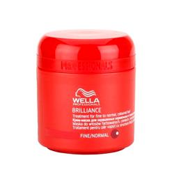Wella Brilliance Line - Крем-маска для окрашенных жестких волос, 150 мл