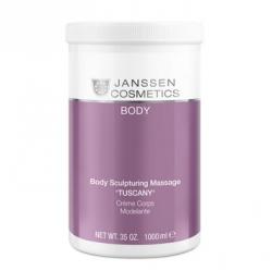 """Janssen 7580P Body Sculpturing Massage """"Tuscany"""" - Структурирующий массажный крем """"Таскани"""" с эфирным маслом апельсина, Q-10 и маслом манго, 1000 мл"""