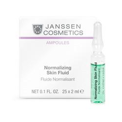 Janssen 1941P Ampoules Normalizing Fluid - Нормализующий концентрат для ухода за жирной кожей, 25 x 2 мл