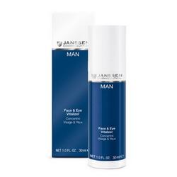 Janssen M-630 Man Face & Eye Vitalizer - Ревитализирующая сыворотка для лица и зоны вокруг глаз, 30 мл