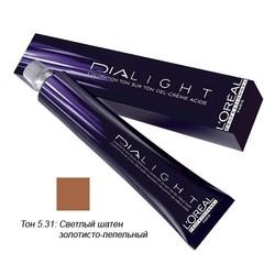 L'Oreal Professionnel Dialight - Краска для волос Диалайт 5.31 Светлый шатен золотисто-пепельный 50 мл