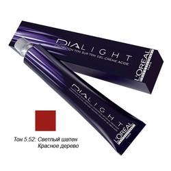 L'Oreal Professionnel Dialight - Краска для волос Диалайт 5.52 Светлый шатен красное дерево перламутровый 50 мл
