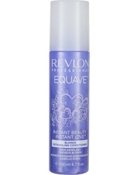 Revlon Professional Equave Instant Beauty Blonde Detangling Conditioner - Несмываемый  кондиционер  для блондированных, обесцвеченных,  мелированных и седых волос с эффектом против желтизны, 200 мл