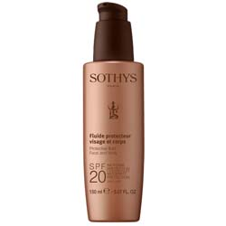 Sothys Protective Fluid Face And Body SPF20 Moderate Protection UVA-UVB - Молочко для лица и тела, 150 мл